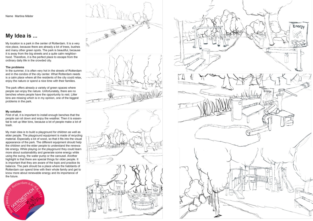 Sample idea sketch from Martina.